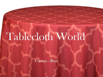 Cameo Rust Custom Print Tablecloths