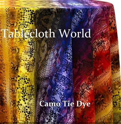 Camo Tie Dye Custom Print Pattern Tablecloths