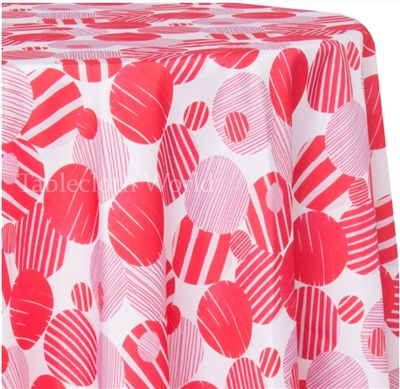 Candy Cane Print Tablecloths