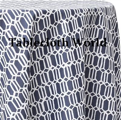 Chain Mail Blue Custom Print Tablecloths