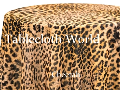 Cheetah Print Tablecloths