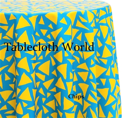Chips Custom Print Tablecloths