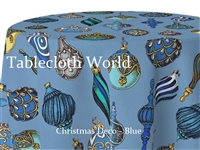 Christmas Deco Blue Tablecloths