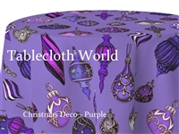 Christmas Deco Purple Tablecloths