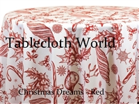 Christmas Dreams Red Print Tablecloths