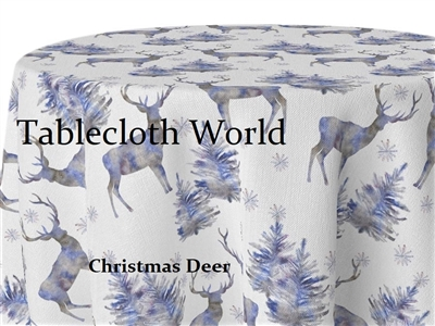 Christmas Deer Custom Print Tablecloths