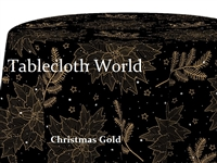 Christmas Gold Print Tablecloths