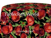Christmas Orbs Custom Print Tablecloths