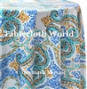 Damask Mosaic Custom Print Pattern Tablecloths