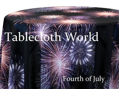 Fourth of July Custom Print Tablecloths