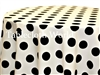 Giant Polka Dot Black on Ivory Tablecloths