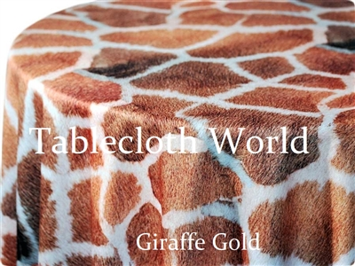 Giraffe Gold Print Tablecloths