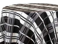 Jumbo Stripe Check Tablecloths