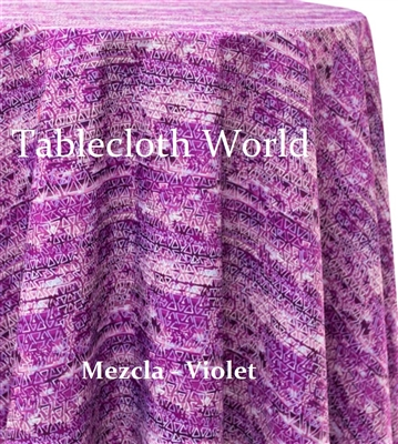 Mezcla Violet Custom Print Tablecloths