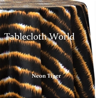 Neon Tiger Custom Print Pattern Tablecloths