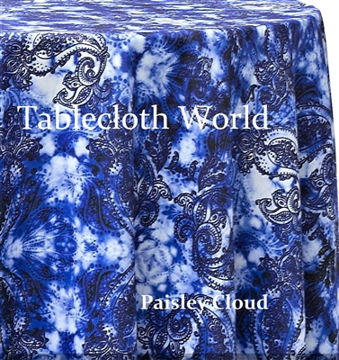 Paisley Cloud Custom Print Pattern Tablecloths