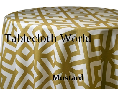 Pavilion Mustard Custom Print Tablecloths