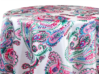 Pink Paisley Tablecloths