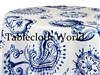 Provence Paisley  White Tablecloths