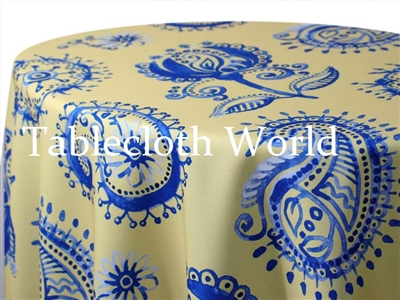 Provence Paisley  Yellow Tablecloths