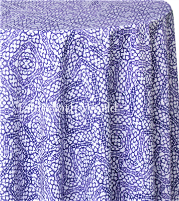 Purple Weave Print Tablecloths