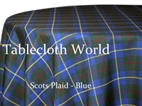 Scots Plaid Blue Tablecloths
