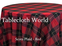 Scots Plaid Red Tablecloths