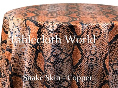 Snake Skin Copper Custom Print Pattern Tablecloths