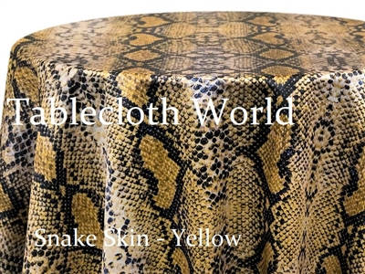 Snake Skin Yellow Custom Print Pattern Tablecloths