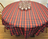 Tartan Red and Green Tablecloths