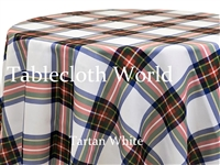 Tartan White Tablecloths