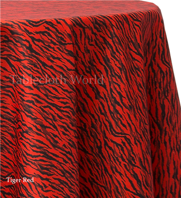 Tiger Red Print Tablecloths