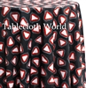 Triangalites Black Custom Print Tablecloths