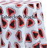 Triangalites White Custom Print Tablecloths