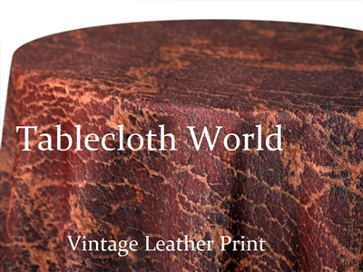 Vintage Leather Print Tablecloths