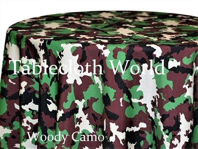 Woody Camo Print Pattern Tablecloths