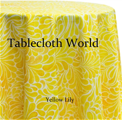 Yellow Lily Custom Print Tablecloths