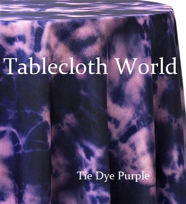 Tie Dye Purple Custom Print Tablecloths