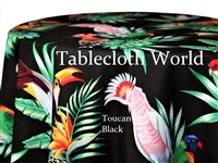 Toucan Black Custom Print Tablecloths
