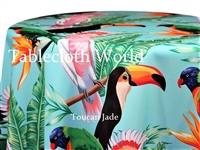 Toucan Jade Custom Print Tablecloths