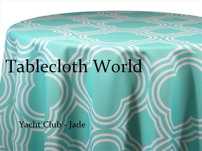 Yacht Club Jade Custom Print Tablecloths