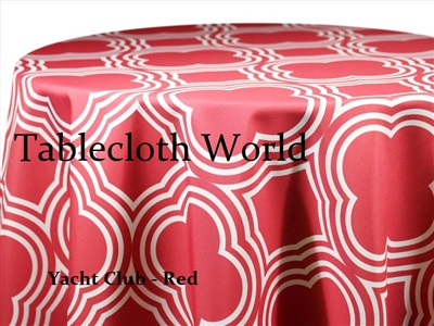 Yacht Club Red Custom Print Tablecloths