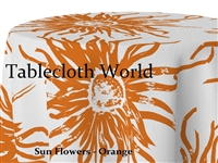 Sun Flowers Orange Tablecloths
