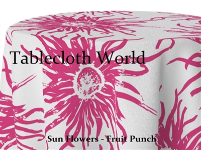 Sun Flowers Fruit Punch Tablecloths