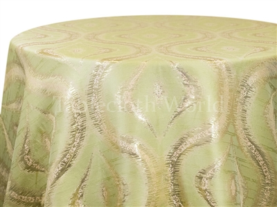 Atrium Metallic Tablecloths in Lime.