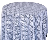 Bib Blossom Lace Tablecloth White