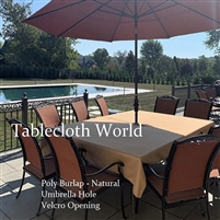 Poly Burlap Tablecloths