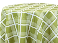 Cape Cod Plaid Green Tablecloths