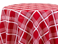 Cape Cod Plaid Red Tablecloths