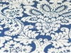 Capua Damask Print Tablecloths Dark Blue